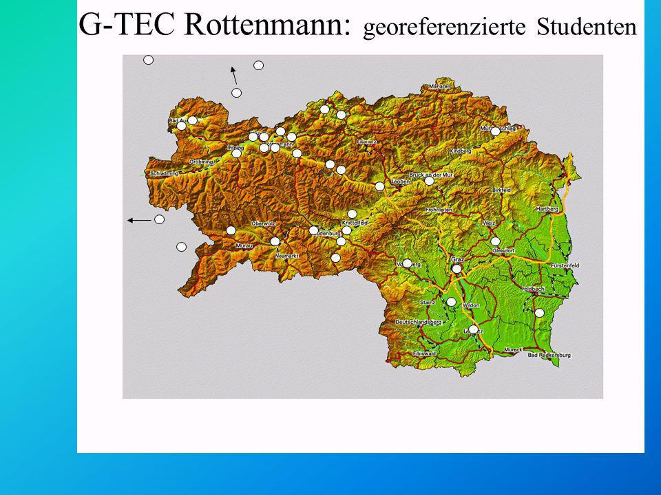 G-TEC Rottenmann: georeferenzierte Studenten