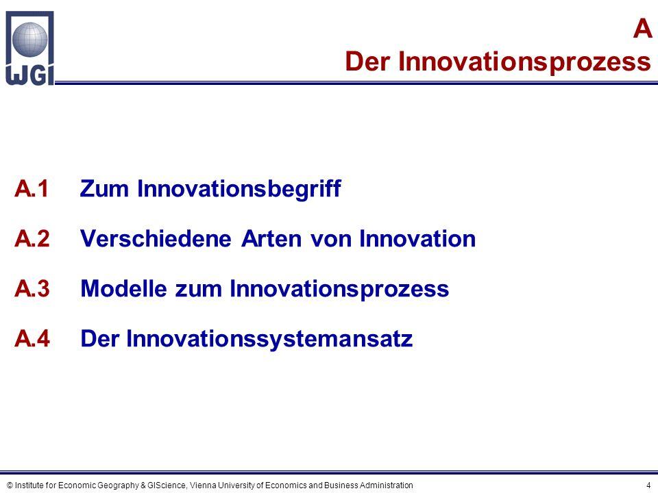 © Institute for Economic Geography & GIScience, Vienna University of Economics and Business Administration 45 Eine Charakteristik des Poisson Modells