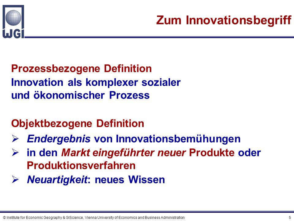 © Institute for Economic Geography & GIScience, Vienna University of Economics and Business Administration 16 Nach der Ausbreitung/Tiefe der Verflechtungen vertikal vs.