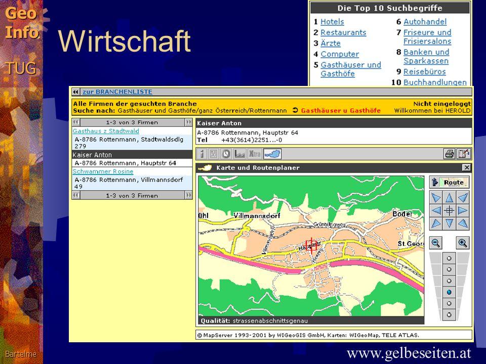 GeoInfoTUGBartelme Pufferzonen: Schienenlärmkataster 50 db 55 db 60 db 65 db Umwelt und Verkehr gis.steiermark.at