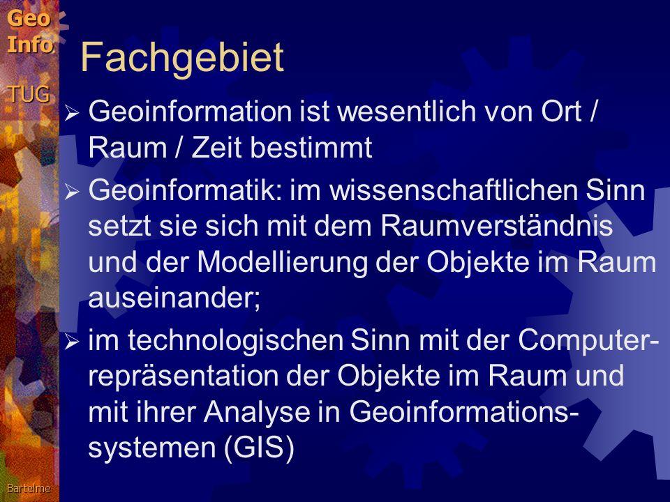 g-tec und Geoinformatik Dr. Norbert Bartelme ao.Univ.-Prof., TU Graz Tag der offenen Tür, 8.April 2002