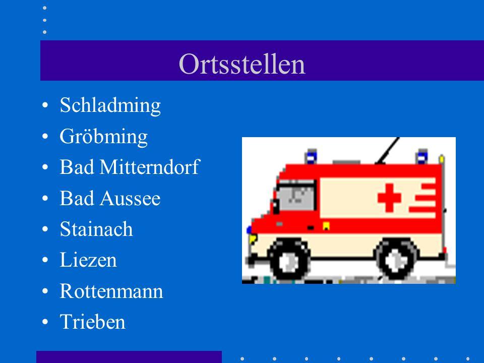 Objektklasse Rotes Kreuz Ortsstellen Bad Mitterndorf Stainach Trieben