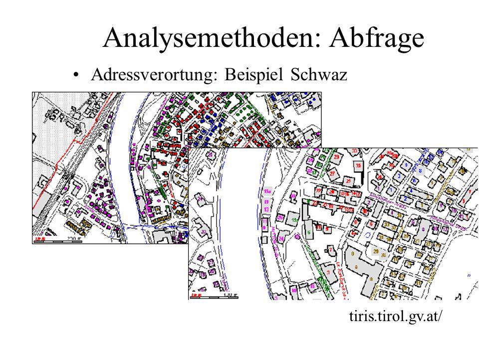 Visualisierung: weitere Beispiele Bauland mit Verkehrsnetz und Luftbild- hinterlegung www.stmk.gv.at