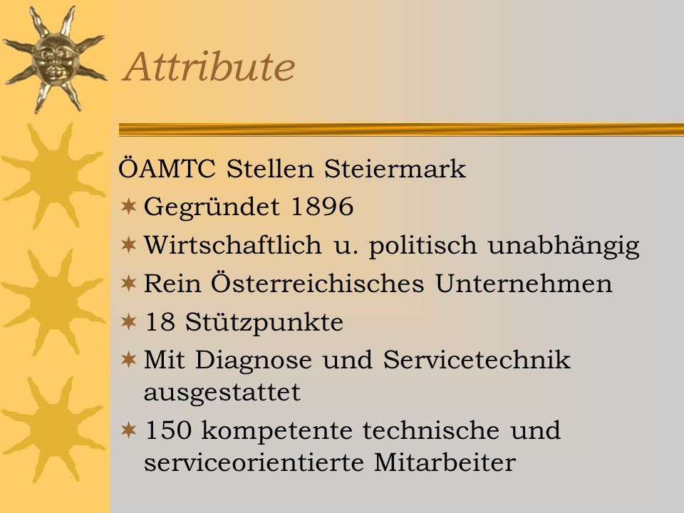 Informationen über Leistungen Stadtbüros Technische Stützpunkte Fahrtechnikzentren Mobile Prüfzüge Grenzstationen Reisebüros