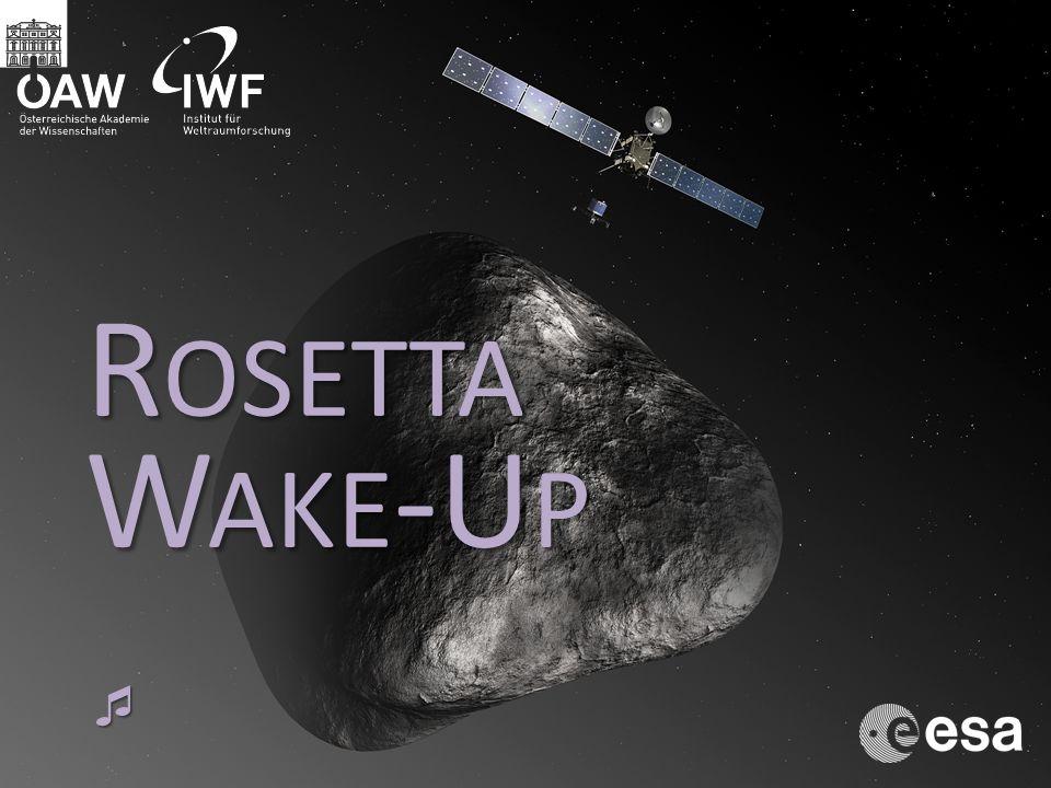 Programm 17 20 Begrüßung Wolfgang Baumjohann 17 30 Kometen - Bausteine des Sonnensystems Günter Kargl 18 00 Wake-Up Shout 18 00 IWF Graz an Bord des Kometenjägers Rosetta Mark Bentley 18 30 Wie kocht man einen Kometen.