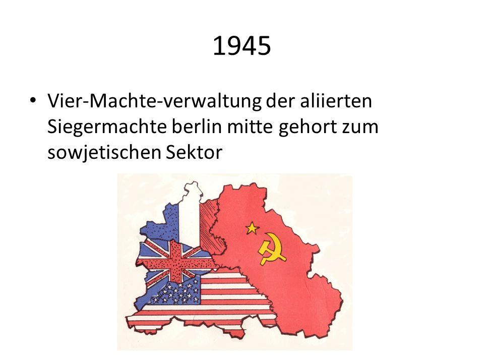 1949 Grundung der Deutschen demokratischen Republic. Ostberlin wird die haupstadt.