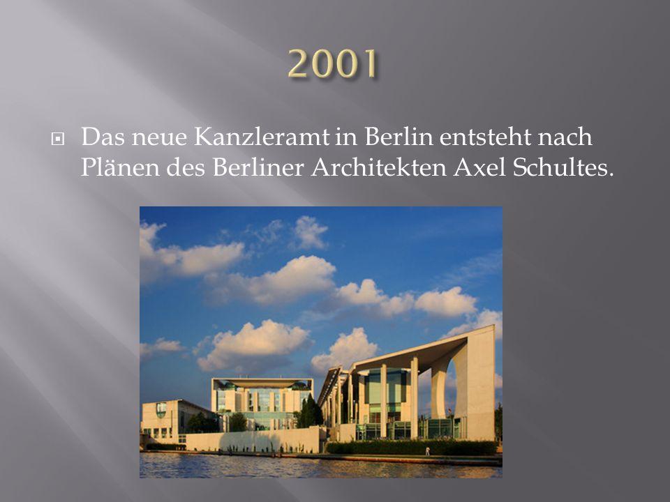Das neue Kanzleramt in Berlin entsteht nach Plänen des Berliner Architekten Axel Schultes.
