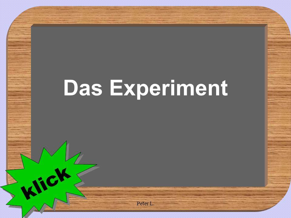 18.04.2005Peter L. Das Experiment klick
