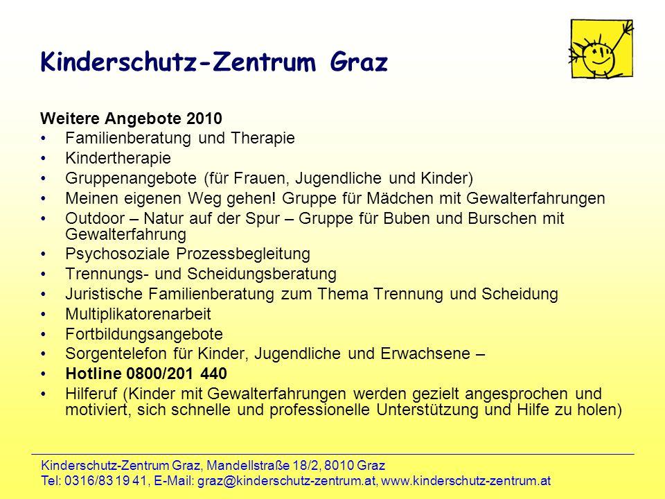 Kinderschutz-Zentrum Graz, Mandellstraße 18/2, 8010 Graz Tel: 0316/83 19 41, E-Mail: graz@kinderschutz-zentrum.at, www.kinderschutz-zentrum.at Kinders