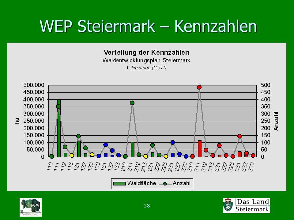 28 WEP Steiermark – Kennzahlen