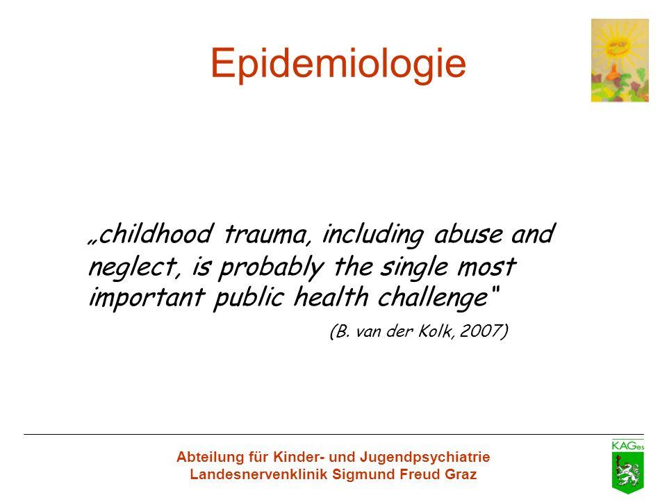 Abteilung für Kinder- und Jugendpsychiatrie Landesnervenklinik Sigmund Freud Graz Epidemiologie childhood trauma, including abuse and neglect, is prob