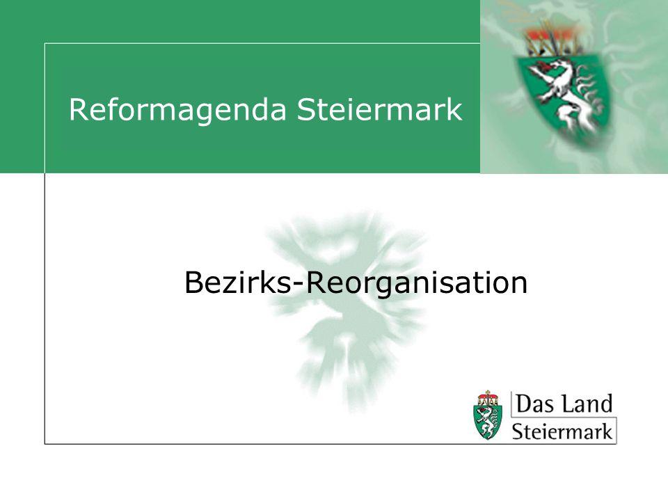 Reformagenda Steiermark Bezirks-Reorganisation