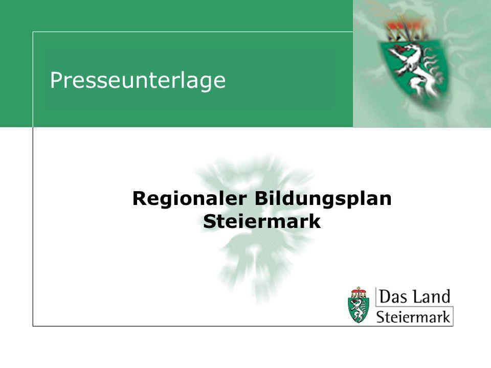 Presseunterlage Regionaler Bildungsplan Steiermark