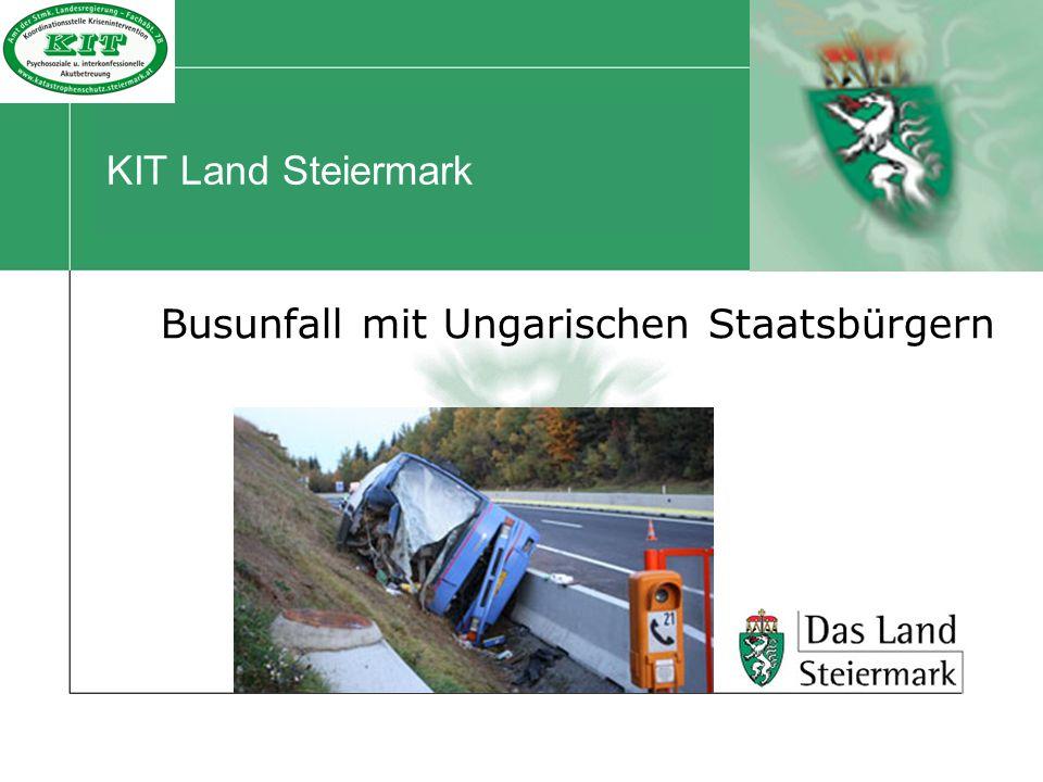 KIT Land Steiermark Busunfall mit Ungarischen Staatsbürgern