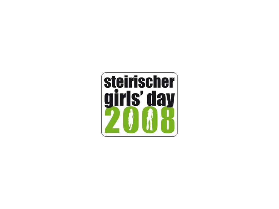 www.girlsday.steiermark.at 1 Partner/innen des Steirischen Girls` Day Ein Projekt des Landes Steiermark, FA6A Referat Frau-Familie-Gesellschaft in Zusammenarbeit mit: Steirischen Volkswirtschaftlichen Gesellschaft AMS Steiermark AK Steiermark unterstützt von: Industriellenvereinigung Steiermark Wirtschaftskammer Steiermark Initiative Faszination Technik Initiative FIT – Frauen in die Technik Landesschulrat für Steiermark