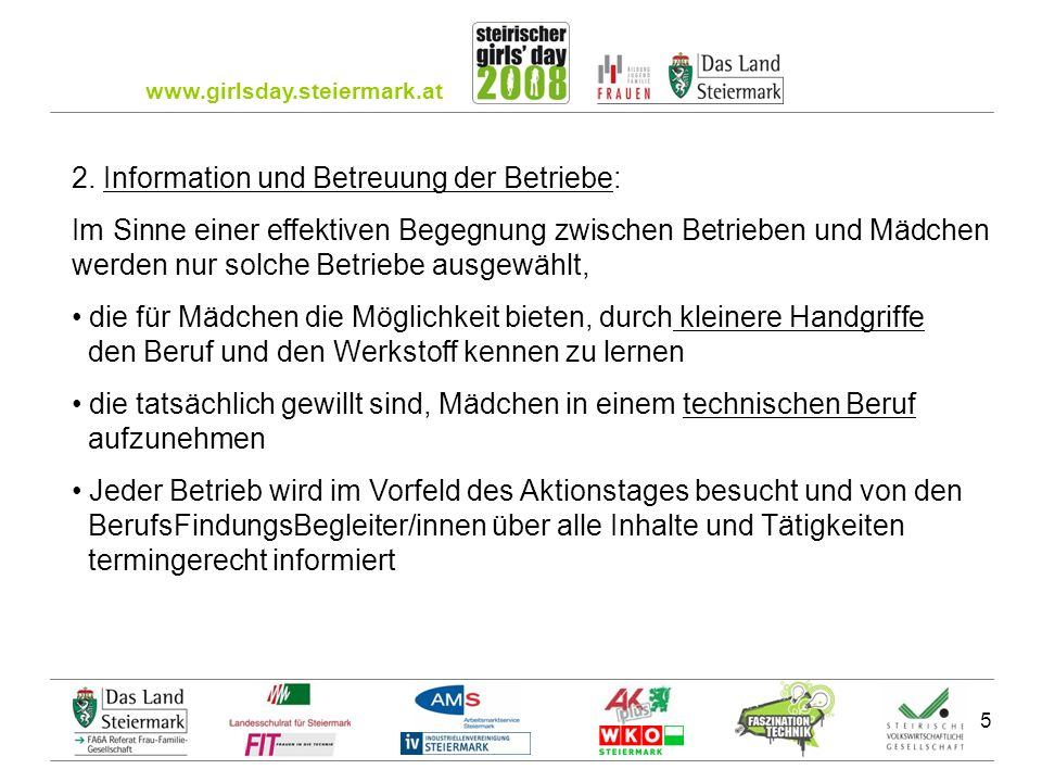 www.girlsday.steiermark.at 5 2.