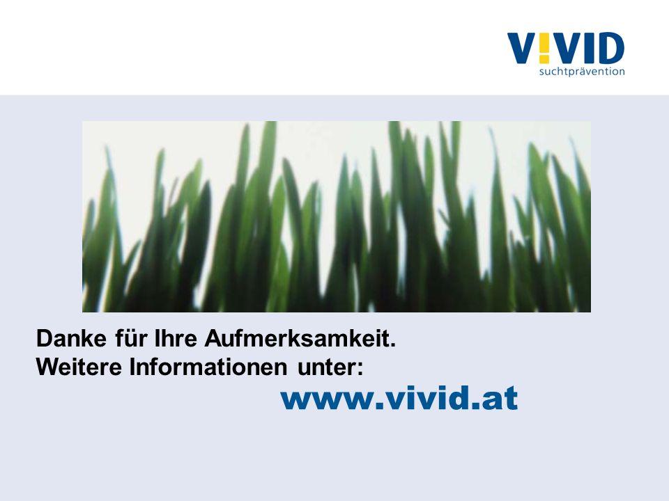 Danke für Ihre Aufmerksamkeit. Weitere Informationen unter: www.vivid.at