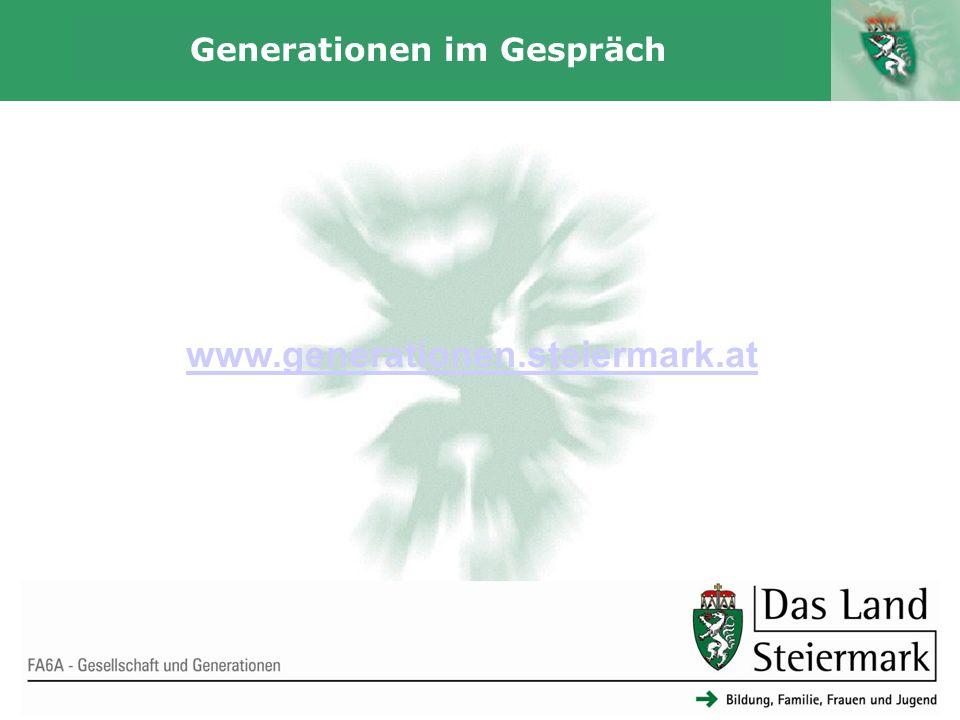 Autor 14 Generationen im Gespräch FA6A - Gesellschaft und Generationen www.generationen.steiermark.at