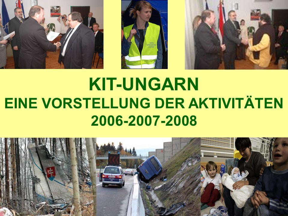 DIE GRÜNDE DER ORGANISATION DES UNGARISCHEN KIT-SYSTEMS -Absturz eines slowakischen Militärflugzuges 2006 -Theissflut 2006 – Evakuierung von 3 Dörfern -Wachstum der Mobilität und damit der Strassenunfälle