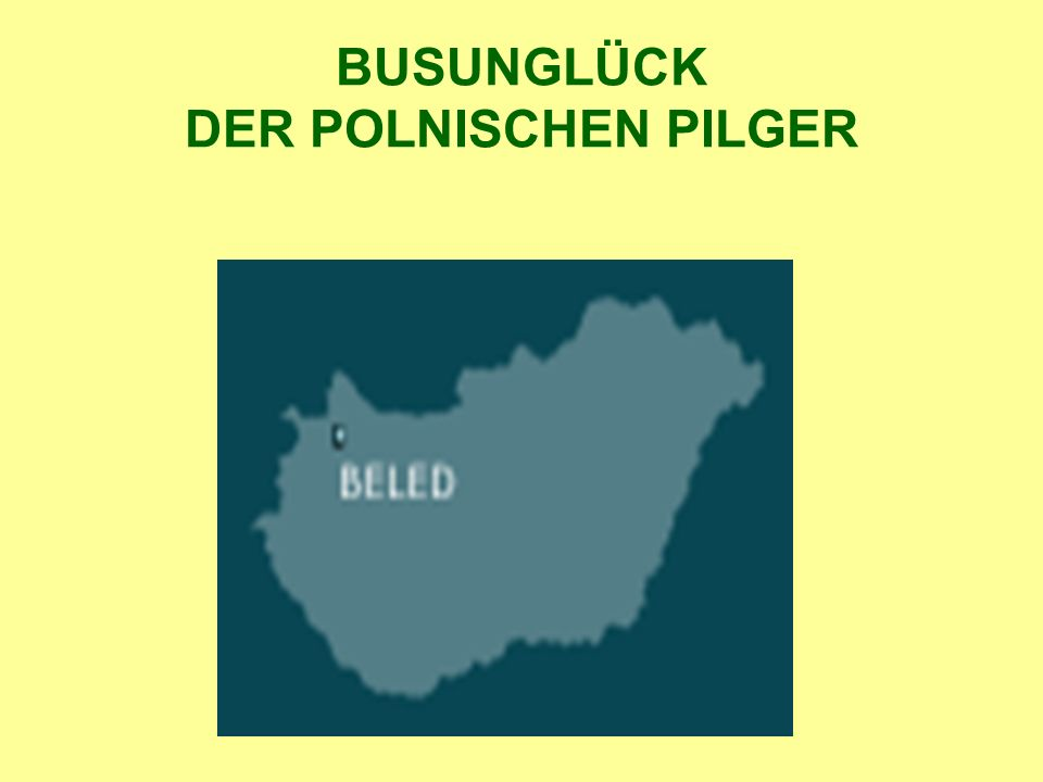 BUSUNGLÜCK DER POLNISCHEN PILGER
