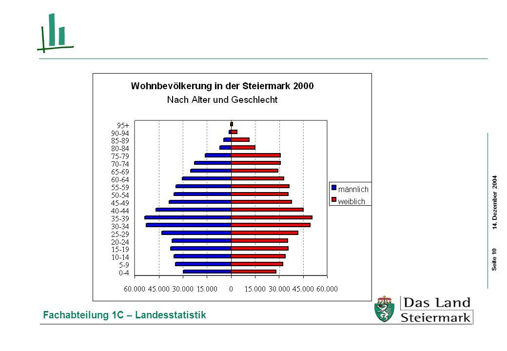 14. Dezember 2004 Fachabteilung 1C – Landesstatistik Seite 10