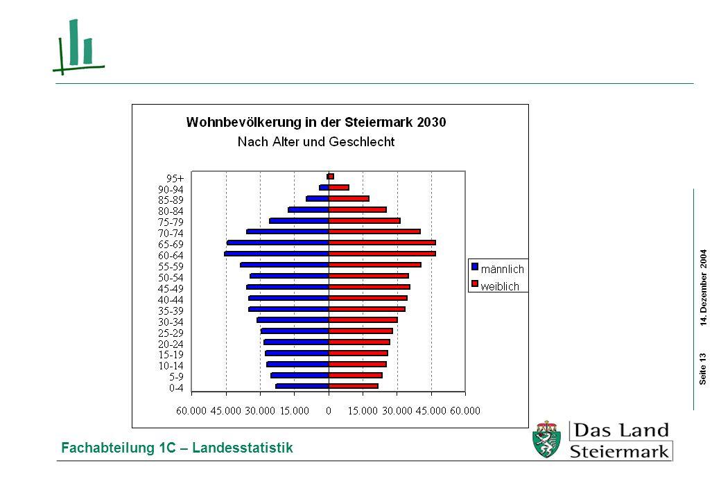 14. Dezember 2004 Fachabteilung 1C – Landesstatistik Seite 13