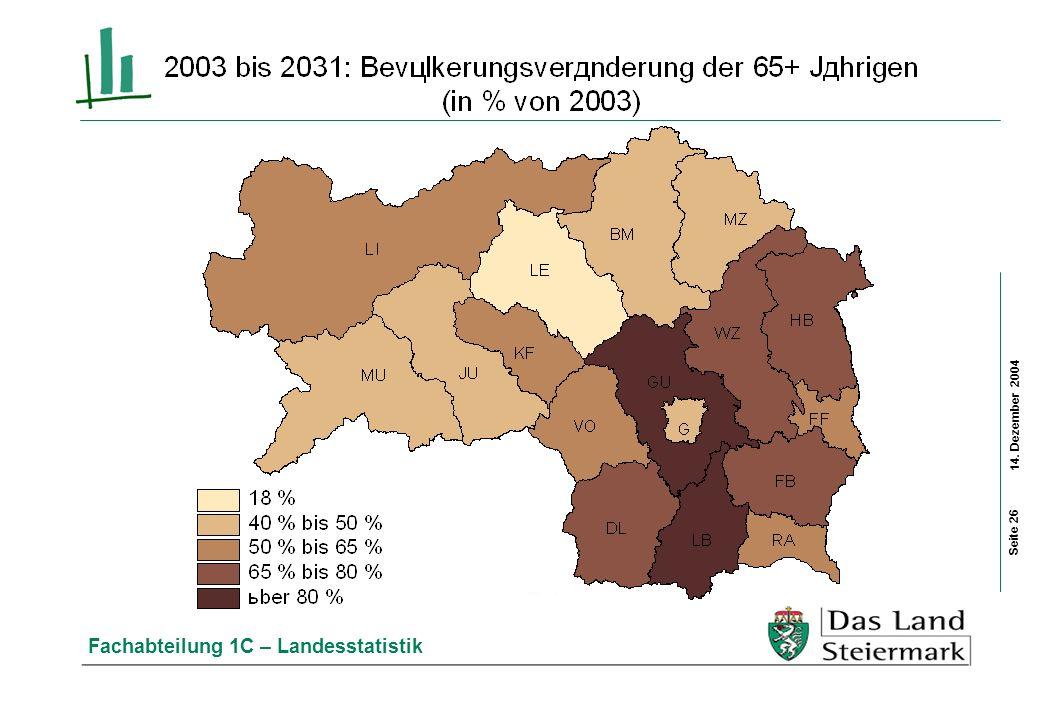 14. Dezember 2004 Fachabteilung 1C – Landesstatistik Seite 26