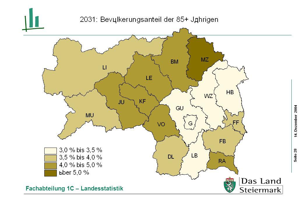 14. Dezember 2004 Fachabteilung 1C – Landesstatistik Seite 28