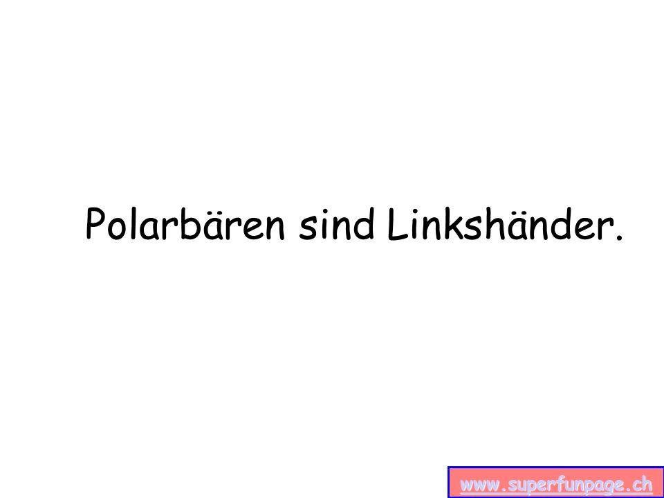 www.superfunpage.ch Polarbären sind Linkshänder.