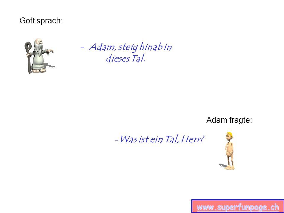 www.superfunpage.ch - Adam, steig hinab in dieses Tal.