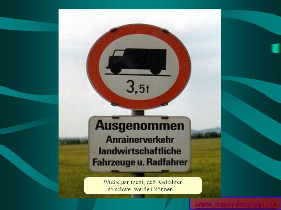 www.superfunpage.ch Wußte gar nicht, daß Radfahrer so schwer werden können...