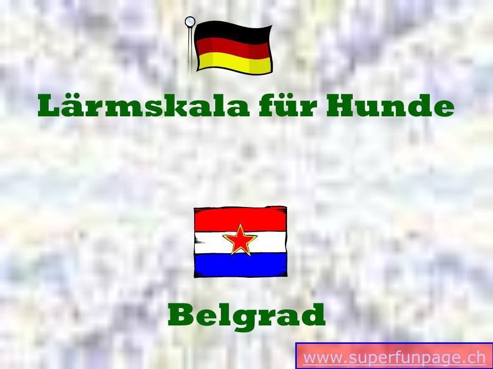 www.superfunpage.ch Belgrad Lärmskala für Hunde