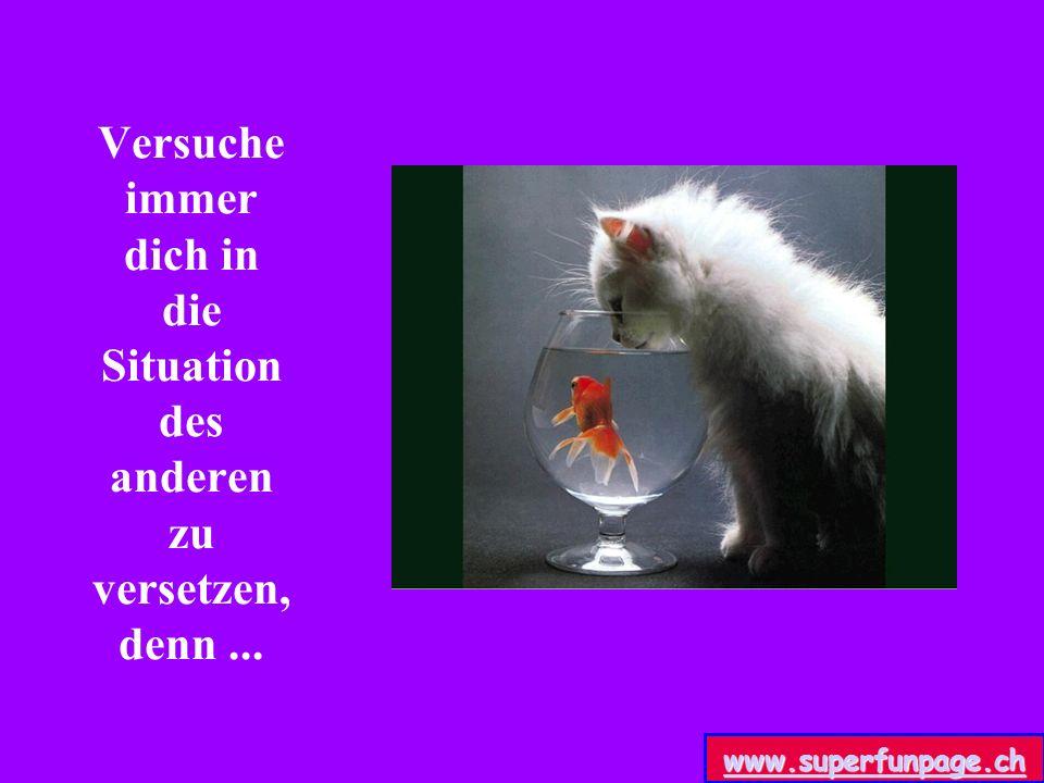 Versuche immer dich in die Situation des anderen zu versetzen, denn... www.superfunpage.ch