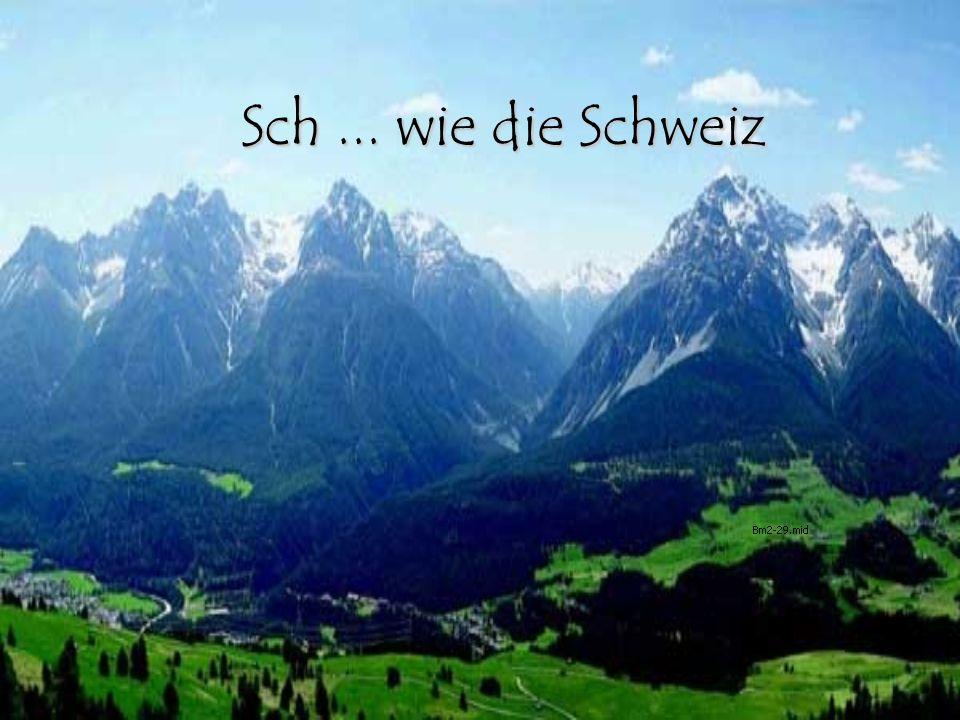 2 Die Schweiz liegt in der Mitte Europas.
