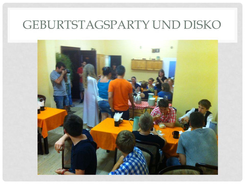 GEBURTSTAGSPARTY UND DISKO