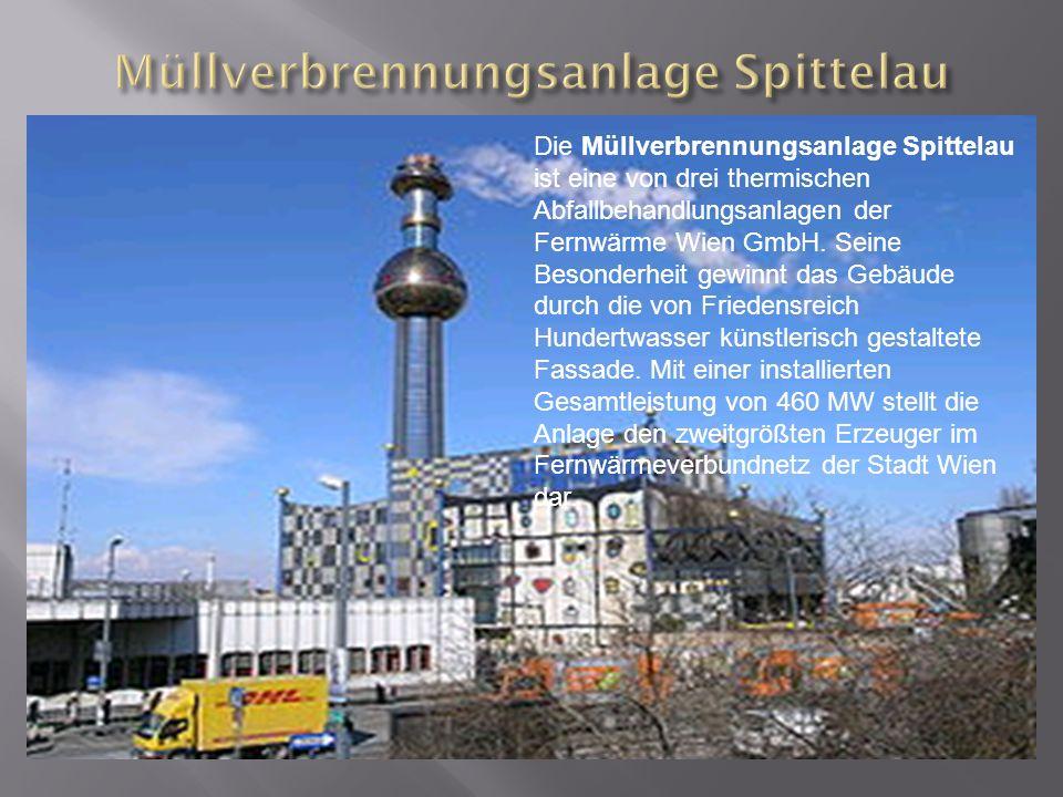 Die Müllverbrennungsanlage Spittelau ist eine von drei thermischen Abfallbehandlungsanlagen der Fernwärme Wien GmbH.