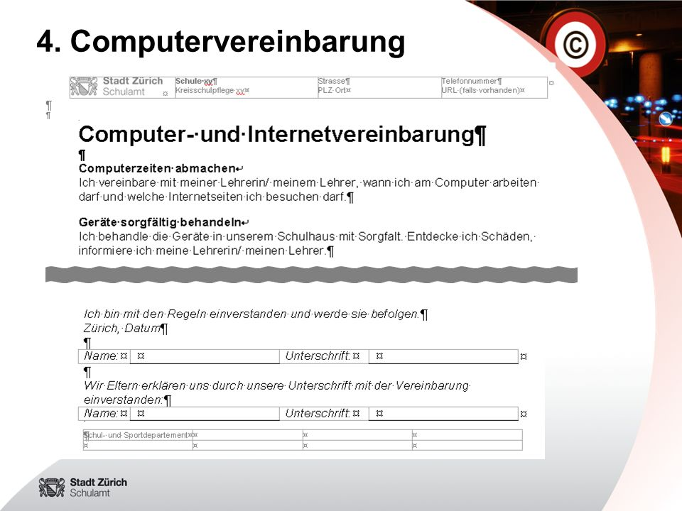 4. Computervereinbarung