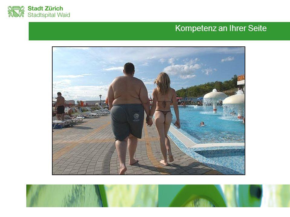 Rolle des Übergewichtes in der heutigen Zeit wird heute von der WHO als Pandemie betrachtet Betroffen sind nicht nur Erwachsene, sondern zunehmend auch Jugendliche und Kinder Identische Entwicklung in der Schweiz WHO 2005, Seidell et al.
