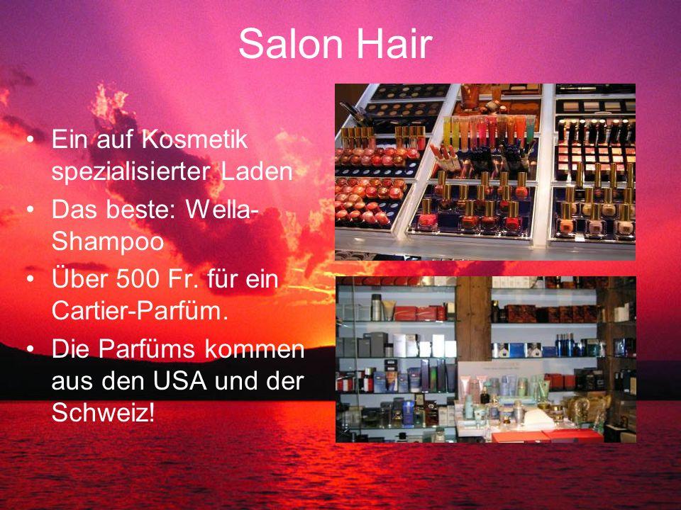 Salon Hair Ein auf Kosmetik spezialisierter Laden Das beste: Wella- Shampoo Über 500 Fr.