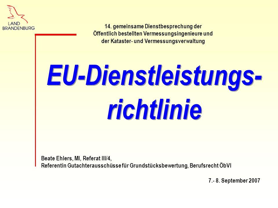 Beate Ehlers, MI, Referat III/4, Referentin Gutachterausschüsse für Grundstücksbewertung, Berufsrecht ÖbVI 7.- 8.