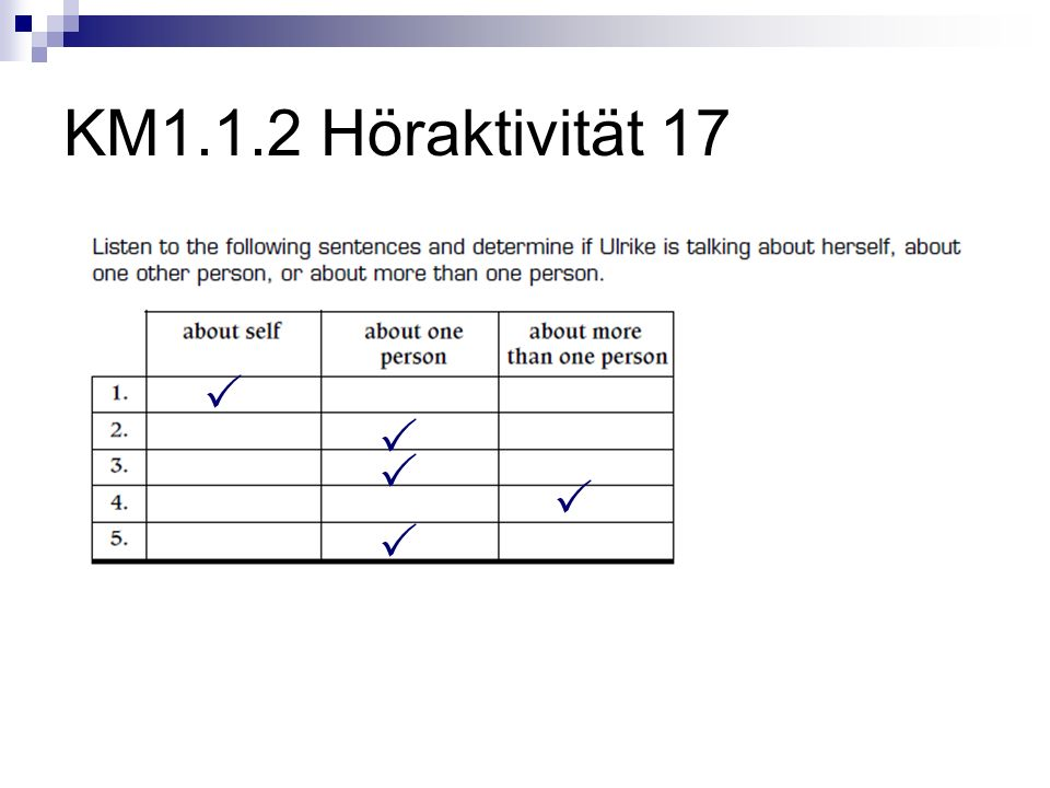 KM1.1.2 Höraktivität 17