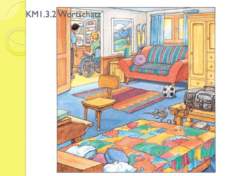 KM1.3.2 Wortschatzbilder 1.s Zimmer, - e Möbel (Plural) 2.