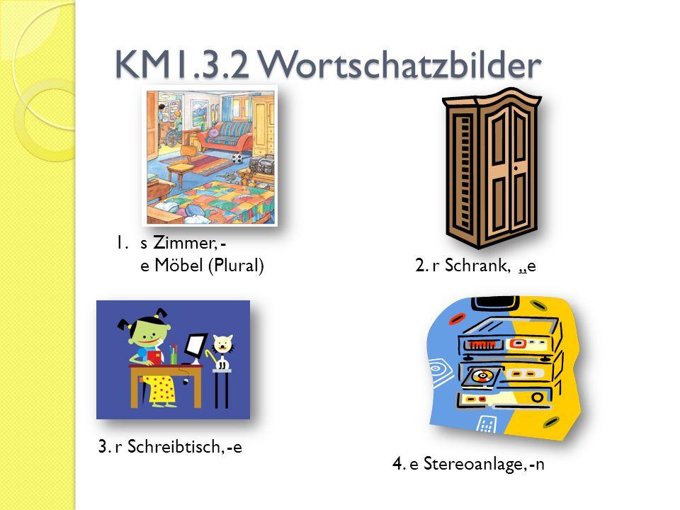 KM1.3.2 Wortschatzbilder 5.e Couch, -en s Sofa, -s 6.