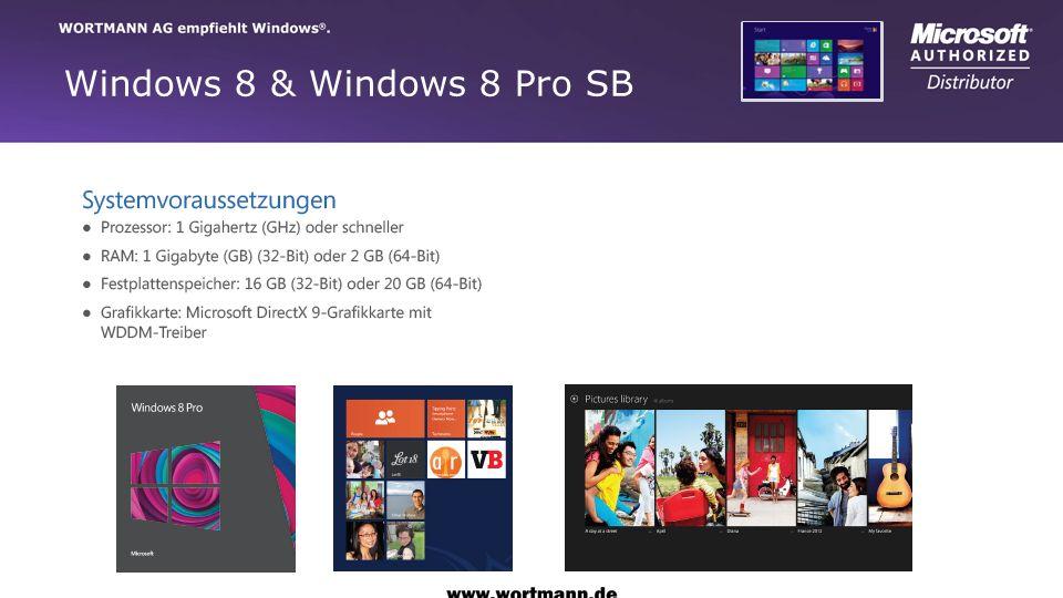 Windows 8 & Windows 8 Pro SB
