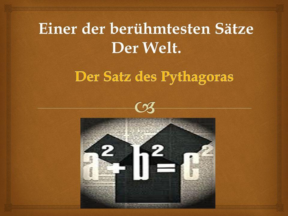Pythagoras von Samos * 570 v.Chr. +510 v. Chr.