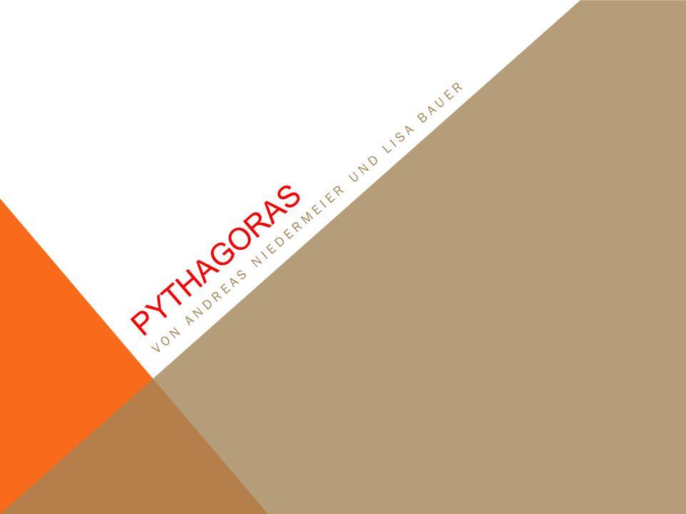 DIE PERSON DES PYTHAGORAS *Um 570 v.Chr. auf samos + Um 510 v.