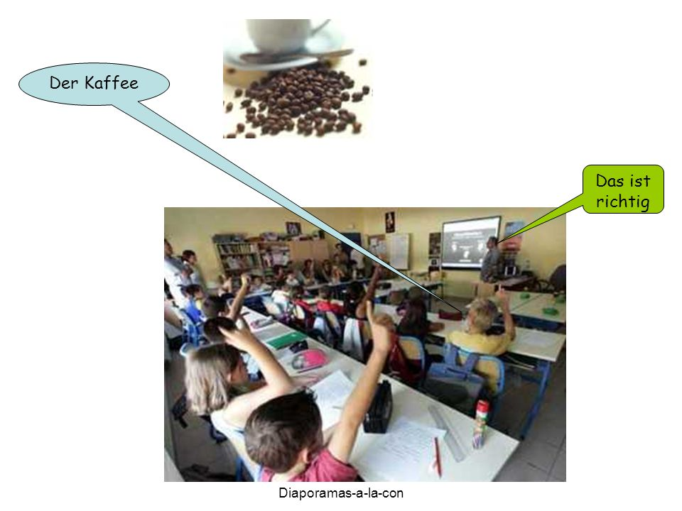 Diaporamas-a-la-con Der Kaffee Das ist richtig