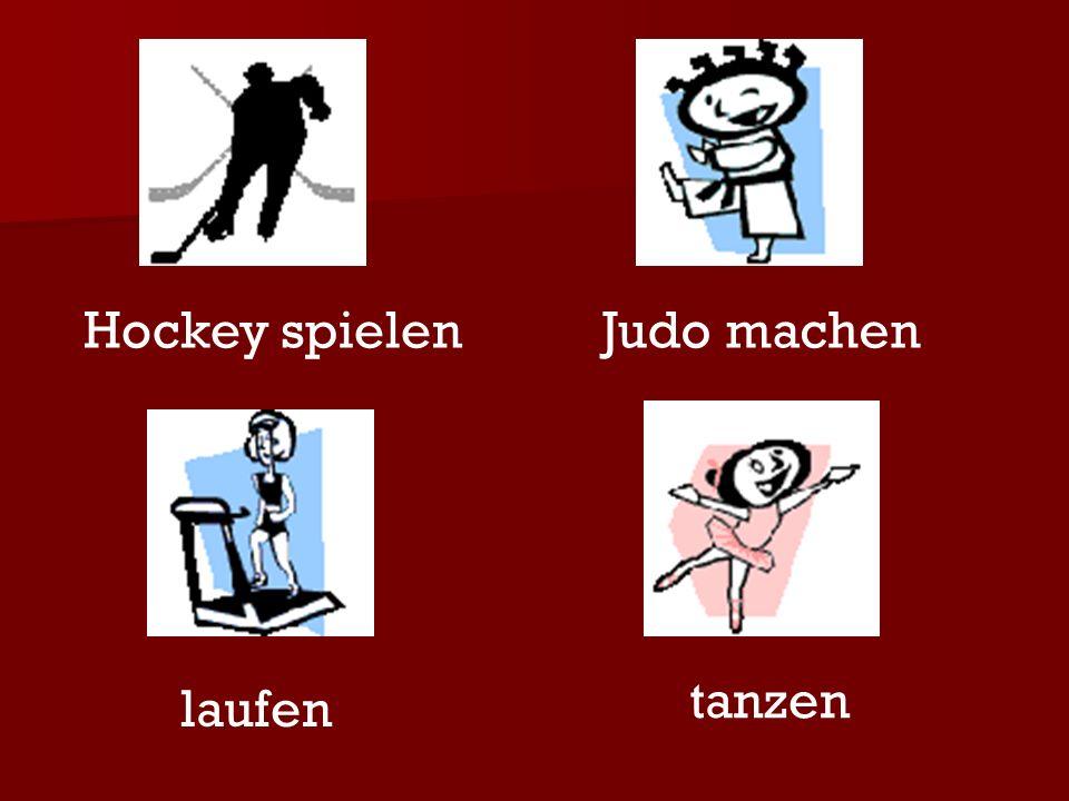 Hockey spielenJudo machen laufen tanzen