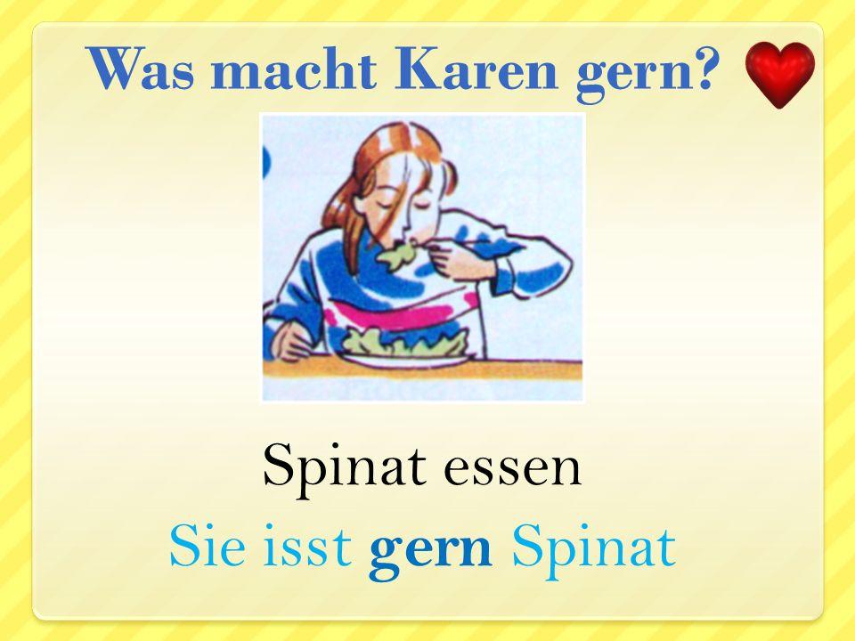 schwimmen Sie schwimmt gern Was macht Karen gern?
