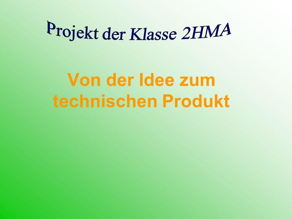 Von der Idee zum technischen Produkt